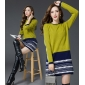 Wholesale Fashion long sweater knit dress A15946