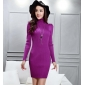 Wholesale Fashion long sweater knit dress A15999