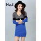 Wholesale Fashion long sweater knit dress A16006
