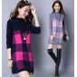 Wholesale Fashion long sweater knit dress A16010