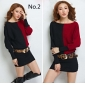 Wholesale Fashion long sweater knit dress A16022