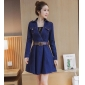 Wholesale Fashion denim dress with the belt A16095