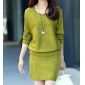 Wholesale Fashion 2-piece set knit dress A17366