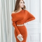 Wholesale Fashion knit dress with the belt K3225