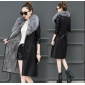 Wholesale Fashion laether coat W5705