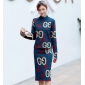 Wholesale Fashion 2-piece set knit dress A19889