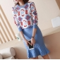 Wholesale Fashion 2-piece set knit dress A19892