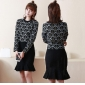 Wholesale Fashion 2-piece set knit dress A19894