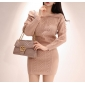Wholesale Fashion 2-piece set knit dress K6691