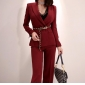 Wholesale Fashion 2-piece set suit with the belt K6696