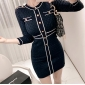 Wholesale Fashion knit dress K6842