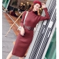 Wholesale Fashion knit dress with the bekt A21398